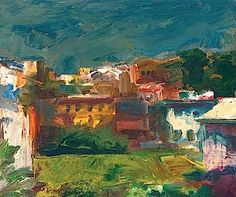 Group of Houses - Elmer Bischoff - WikiPaintings.org