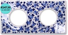 Delft Blue double outlet tile FK