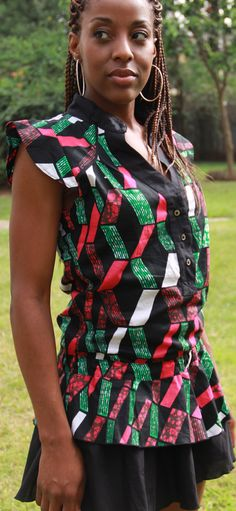 African Print Mini BabyDoll Dress by ifenkili on Etsy, $30.00