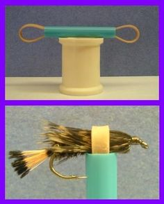 A DIY hackle bender. A handy little tool
