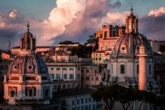 Sunset over roofs of Rome by MassimilianoMancini1