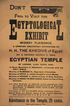 An exhibit at the 1893 World's Columbian Exposition, Chicago.