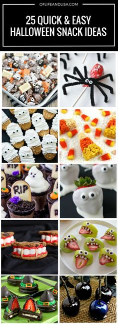 7 Halloween Party Food Ideas you can Rustle Up in Minutes Fun food - halloween party treats ideas