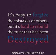 It's easy to forgive