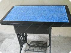 Декор предметов Поделка изделие Аппликация Моделирование конструирование Садовый столик +стульчик из шин  фото 1