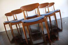 Mid Century Parker Furniture Australia Dining Chairs Teak Spadeback Matchstick Mickey Mouse Retro Vintage   360 Modern Furniture