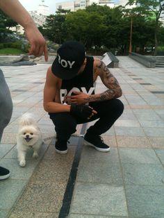 Jay Park with dog