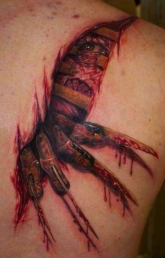 'Freddy Krueger of A Nightmare on Elm Street' Tattoo.