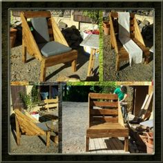 pico 1368211409274 The use of pallets for garden creations ! in pallet garden with Pallets Garden Armchair Pallet Crates, Pallet Art, Diy Pallet Projects, Wooden Pallets, Wood Projects, 1001 Pallets, Pallet Ideas, Outdoor Projects, Pallet Furniture