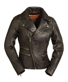 Love this Black Monte Carlo Leather Moto Jacket - Plus Too on #zulily! #zulilyfinds