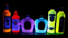 Grab your bottles and your highlighters and create the perfect blacklight atmosphere