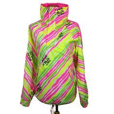 Vintage Elho Freestyle Snowboard Ski Jacket Size XL XXL Pink Neon Funky 90s  #Elho
