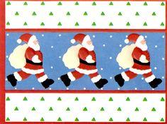 Curtis Swann embossed Santa Claus Christmas card