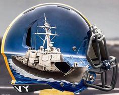 College Football Helmets, Navy Midshipmen, Go Navy, Naval Academy, Vintage Football, New England Patriots, Military, Sports, Hs Sports