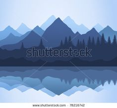 Kind on mountains and lake. A vector illustration by Aleksander1, via ShutterStock