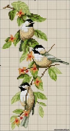 cross stitch birds. smáfuglar
