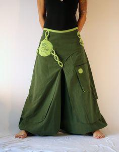 Harem Pants Skirt Aladdin Trousers Afghani Rave by manaKAmana