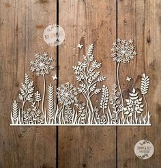 Papercutting template - SVG / PDF Meadow Design – Papercutting Template to print and cut yourself (Commercial Use) - Kirigami, Paper Cutting, Diy And Crafts, Paper Crafts, Motif Floral, Logo Nasa, Romantic Weddings, Print And Cut, Embroidery Patterns