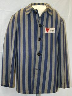 Concentration Camp Jacket worn by a Polish political prisoner of the Third Reich.   The National WWII Museum 2007.185 http://www.nww2m.com/page/7/