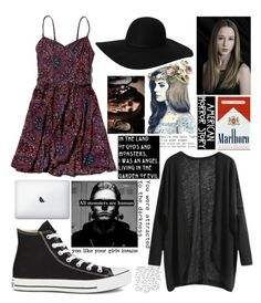 """""""Ahs"""" by bryannaxrose ❤ liked on Polyvore featuring Abercrombie & Fitch, Converse, Børn and Monki"""
