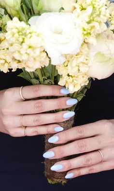 Have a wedding coming up? These manicure shades are non-boring nail options perfect for the wedding day.