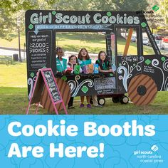 Cookie Booths are now open! Use our free Girl Scout Cookie Finder to loc. Cookie Booths are now open! Use our free Girl Scout Cookie Finder to loc. Girl Scout Swap, Girl Scout Leader, Girl Scout Troop, Girl Scout Cookie Image, Girl Scout Cookie Sales, Girl Scout Cookies Flavors, Girl Scout Activities, Girl Scout Juniors, Daisy Girl Scouts