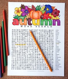 Free Printable Autumn Word Search Coloring Page