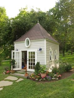Expand by 3 times and you would make a small house. the round window would have to bigger of course.  Mason Boyd