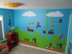super mario baby boy nursery idea totally my husband