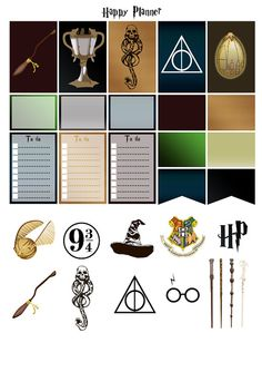 Printable stickers Harry Potter | 4 pdf | Instant download | Planner, Happy…