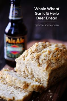 Whole Wheat Garlic & Herb Beer Bread