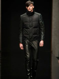 Black at JOHN RICHMOND for Fall Winter 2014 2015 in Milan via- AMDmode.com