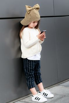 Kids Style in Neutrals by Miss Kaira | EdgyCuts