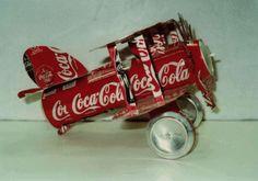 Riciclo creativo dell'alluminio: idee originali - Aeroplano di coca cola