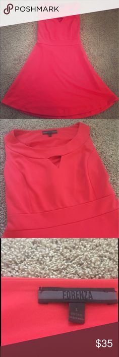 🆕Forenza Coral Cutout Summer Dress Forenza summer dress in Coral with adorable cutouts in the back! Zipper also on side. No signs of wear! Very cool and stretchy material. Perfect for the summer weather! All bundles and purchases also come with a surprise gift and same day shipping! Forenza Dresses Mini