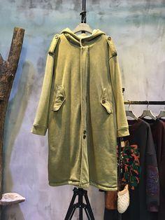 Fashion Flap Pockets Thickening Korean Coat Plain Cotton Overcoat #winter #coat #Korean #fashion #youthful #cotton