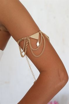 Gold Wing Arm Chain | SABO SKIRT
