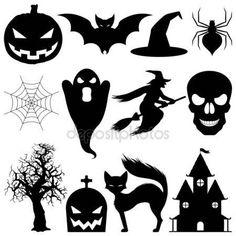 Скачать - Элементы вектора синхронизации Хэллоуин — стоковая иллюстрация #1036643