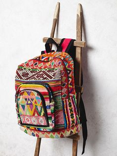 Bluma Project Evita Backpack at Free People Clothing Boutique. From the Peruvian highlands. Backpack For Teens, Backpack Bags, Leather Backpack, Mochila Hippie, Sac Week End, Boho Bags, Hippie Bags, Fringe Purse, Cute Backpacks