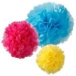 Picture of Decadent bright pom poms - (pack of 3)