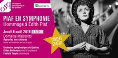 Piaf en symphonie - l'OSQ au Domaine Maizerets