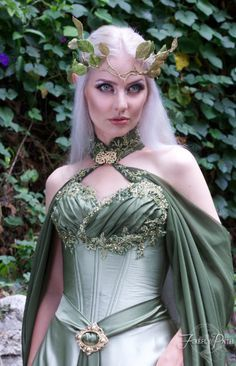 Elven Bridal Gown Model by Lillyxandra.deviantart.com on @DeviantArt
