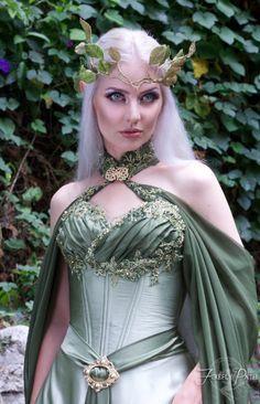 Elven Bridal Gown Model by Lillyxandra.deviantart.com on @DeviantArt