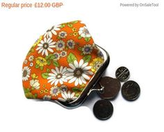 ON SALE If you are looking for a simple design then this cute little coin purse…