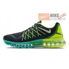 competitive price 3caf5 8201e Nike Air Max 2015 Chaussures de Running Pour Homme Noir/Vert 698902-003