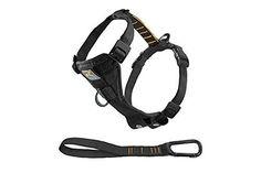 Kurgo Tru-Fit Smart Harness No Pull Dog Harness Easy Dog Walking Harness Black Medium