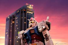 """""""El Gundam de Odaiba"""" Parque de Shiokaze en Odaiba (Tokyo) Japón."""