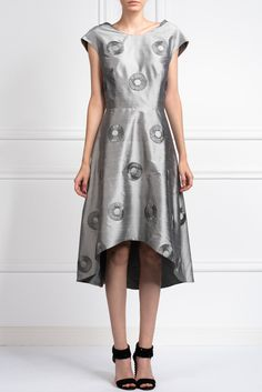 shantung-circle-dress Circle Dress, Short Sleeve Dresses, Dresses With Sleeves, Boutique Shop, Summer, Shopping, Clothes, Collection, Design