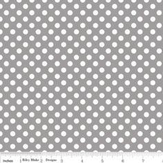 Small Dot Knit in Gray (Riley Blake Designs - Knit Basics)