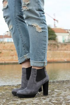 Black Star Style: Boyfriend jeans e la mia bag in Pvc